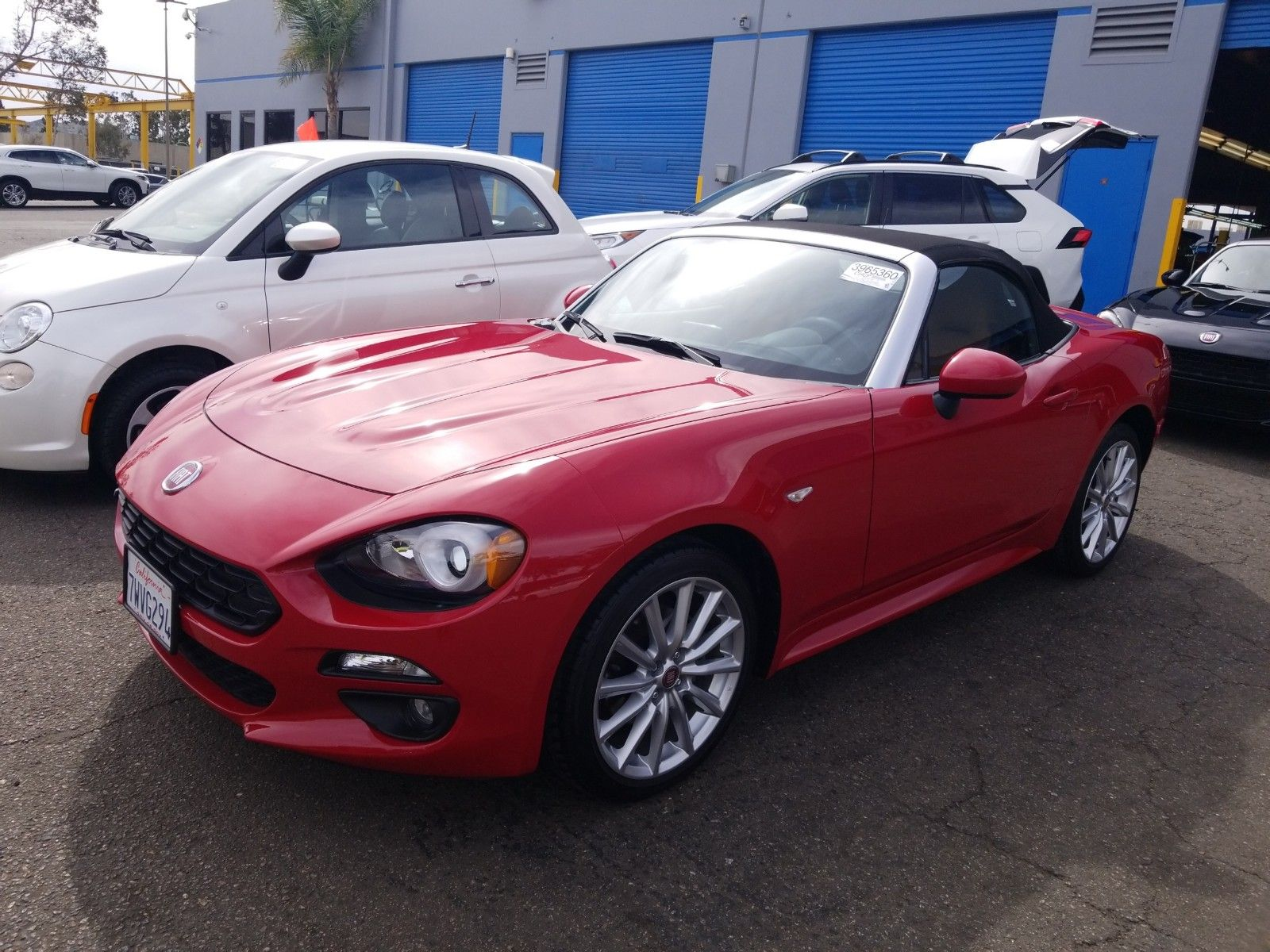 2017 Fiat 124 spider 1.4. Lot 99914078177 Vin JC1NFAEK7H0107933